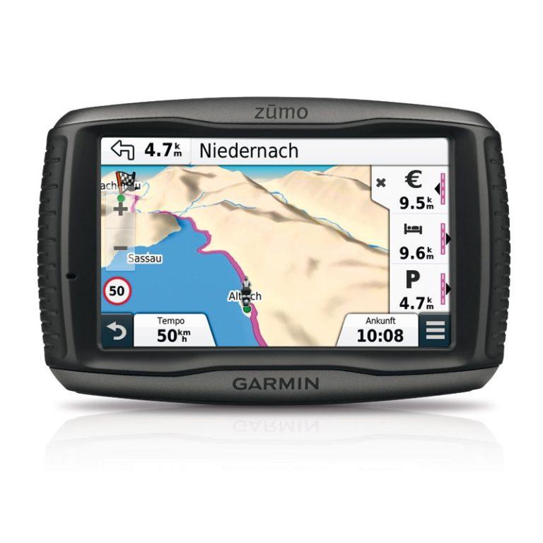 Garmin Zumo 590lm mit Lifetime-Update, Motorrad- Autohalterung und vielem mehr.